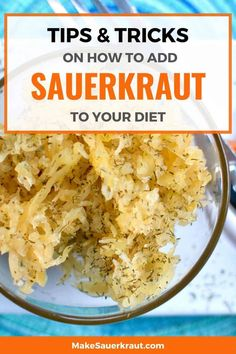 Here are the best ways to eat sauerkraut! Add probiotics to your food from pizza, avocado toast, mango-kimchi salad and other delicious delights. Check out 33 and counting simple ideas to add zing to your meals. #howtoeatsauerkraut #waystoeatsauerkraut #guthealth Homemade Sauerkraut, Sauerkraut Recipes, Fermented Cabbage, Fermented Foods, Plant Based Recipes, Vegetable Recipes, Best Time To Eat, Low Carb Recipes, Healthy Recipes