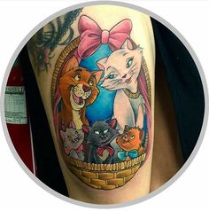 Mother Daughter Tattoos, Tattoos For Daughters, Cartoon Tattoos, Sister Tattoos, Awesome Tattoos, Cool Tattoos, Aristocats Tattoo, Pixar, Disneyland