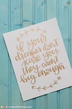 If Your Dreams don't Scare You...{Giveaway!} - Random Little Faves
