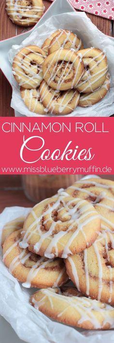 Zimtschnecken Kekse // Cinnamon Roll Cookies