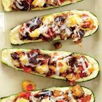 ~~Grilled Ratatouille Boats recipe from Rachael Ray~~ Veggie Recipes, New Recipes, Vegetarian Recipes, Cooking Recipes, Favorite Recipes, Healthy Recipes, Alkaline Recipes, French Recipes, Family Recipes