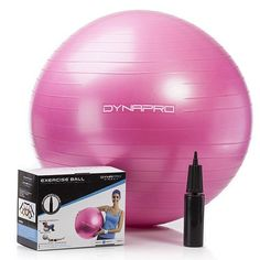 Pink DynaPro Exercise Ball With Pump