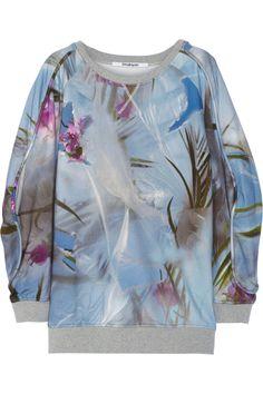 Chalayan|Floral-print cotton-terry sweatshirt|NET-A-PORTER.COM