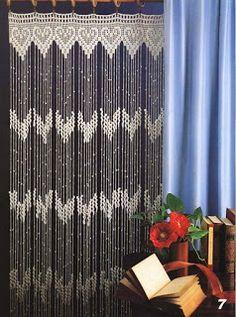 cortina de croche com receita