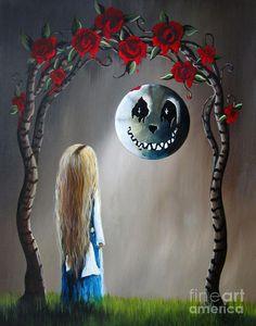 Alice In Wonderland Original Artwork - Alice And The Beautiful Nightmare Painting