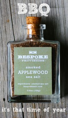 Super versatile on and off the grill, Smoked Applewood Sea Salt can be used as a rub for fish as well as meats.  Plus it's easy to add a touch of yummy smokiness to veggies like asparagus and roasted potatoes too.  Check out Bespoke Smoked Applewood Sea Salt and many other terrific grilling salts including Smoked Chipotle at bespokesalt.com