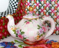 Mackenzie Childs tea pot. I need one of these for my collection!!!