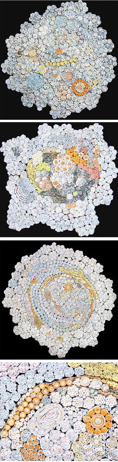 Nava Lubelski - Tax Files - paper sculptures made from deposit slips, pay stubs, receipts and tax forms