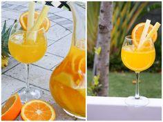 White Wine Sangria w/ Pineapples & Mango Nectar  *Refrigerate overnight!