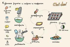 Куриные рулеты с сыром и творогом