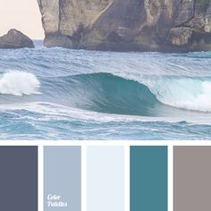 celadon, color of sea wave, color of water, color of water and earth, Cyan Color. Paint Color Schemes, Colour Pallette, Color Azul, Paint Colors, Coastal Colors, Pastel Palette, Color Balance, Color Shades, Green Shades