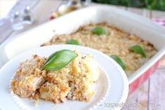 This cauliflower casserole is full of Italian inspired flavors like oregano, basil, Parmesan and vodka sauce! Low carb, gluten free & delicious as always! - www.tasteaholics.com