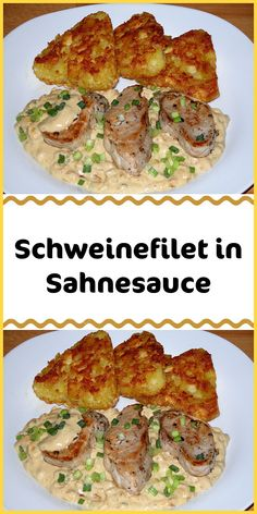 Schweinefilet in Sahnesauce - Neue Ideen Pork fillet in cream sauce - new ideas, sauce tenderloin Meatloaf Recipes, Pork Recipes, Pasta Recipes, Chicken Recipes, Dinner Recipes, Healthy Recipes, Dinner Ideas, Pork Medallions, Pork Fillet
