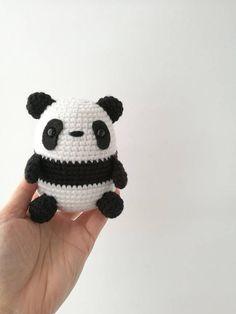 Items similar to Panda, Panda Amigurumi, Crochet Panda, Egg-Shaped Panda on Etsy Crochet Animal Patterns, Crochet Doll Pattern, Stuffed Animal Patterns, Crochet Animals, Knitting Patterns, Stitch Patterns, Crochet Panda, Crochet Bunny, Love Crochet