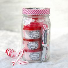 Peppermint Pampering Gifts In Jars For Homemade Christmas Gifts | The Gunny Sack