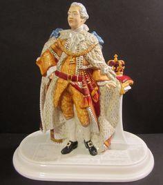 Royal Doulton King George III Prestige Figurine HN 5746 Ltd Hand Signed Doulton