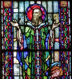 St. Patrick Harry Clarke, Stained Glass Church, Church Windows, Catholic Saints, Arts And Crafts Movement, Cathedrals, Temples, St Patrick, Figurative