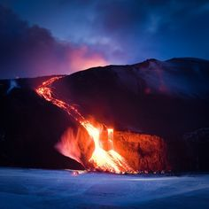 MUST See & Photo if Erupting: Eyjafjallajökull Lava Falls, Erupts Frequently