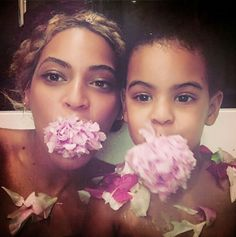 Beyonce and Blue. So cute.