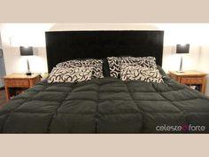 *Respaldo tapizado en tela para sommier Comforters, Blanket, Bed, Furniture, Home Decor, Environment, Lacquer Furniture, Bed Base, Dorm Rooms
