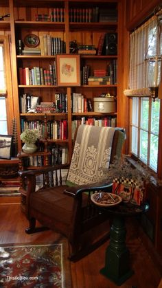 cozy reading spot...I'd change the table, rug, and some of the decorative accessories, but overall the effect is nice