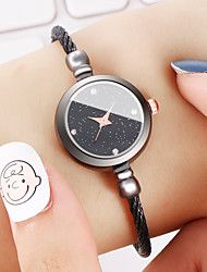 Women's Bracelet Watch Cubic Zirconia Casual Elegant Black Silver Rose Gold Alloy Chinese Quartz Black Rose Gold White / Black Casual Watch Imitation Diamond 1 pc Analog One Year Battery Life