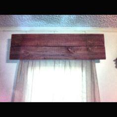 Old rough wood valances Wood Valance, Valance Ideas, Window Valances, Curtains, Patterned Blinds, Cornice Design, Slider Door, Rustic Shutters, Barn Wood Crafts