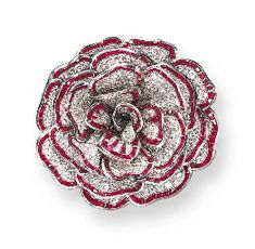 AN EXQUISITE RUBY AND DIAMOND CAMELLIA BROOCH, BY RENÉ BOIVIN c.1938
