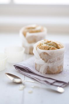 Soaked Lemon Poppy Seed Olive Oil Cakes via Cannelle et Vanille #recipe