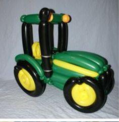 Balloon art tractor