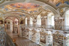 Thousands upon thousands of books line the walls of the largest monastic library in the world. . . . . . #Library #Book #Books #Read #Reading #Reads #Austria #Admont #AdmontAbbey #Monastery #Largest #Travel #Destination #Explore #GetLost #Luxury #DotLuxury #Mansion #Styria #Baroque #Classic #Architecture