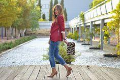 BURGUNDY – Mi Aventura Con La Moda Professional Attire, Boyfriend Jeans, Burgundy, Style, Fashion, Adventure, Fashion Styles, Swag, Moda