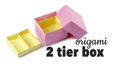 In this tutorial you will learn how to make a useful origami storage box with 2 tiers or levels. This box makes a great jewellery box or a big one would be n...