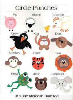Circle Punch Animals