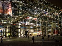 centre pompidou night paris pictures