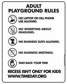 Adult Playground Rules