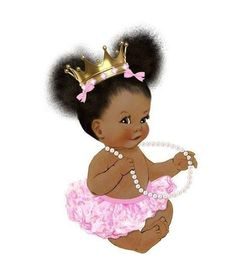 Black Girl Art, Black Women Art, Art Girl, Baby Clip Art, Baby Art, African American Art, African Art, Cute Kids, Cute Babies