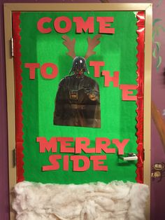 Star Wars Christmas Yoda Classroom Door 2015 2016 School