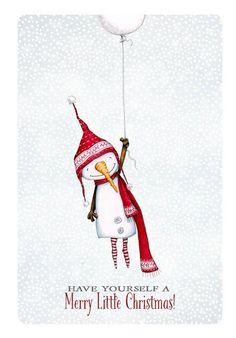 christmas card card snowman winter balloon by staceyyacula