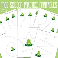 Let's do some scissor or pre-writing practice with these sweet printables.