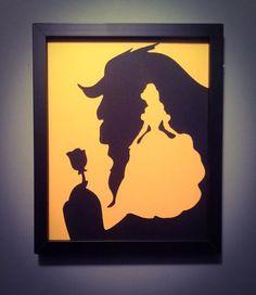 La belle et la bête art mural par Vongooz sur Etsy