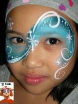 whimsical winter wonderland face painting design for Christmas