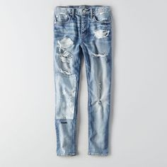 Vintage Hi-Rise Jean featuring polyvore, women's fashion, clothing, jeans, blue, short jeans, blue jeans, relaxed fit jeans, vintage jeans and american eagle outfitters jeans