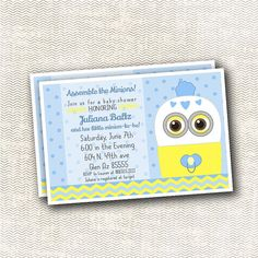 Custom minion baby shower invite baby shower invitations despicable minion baby shower invitation filmwisefo