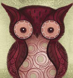 """Owl"" par Johanna Parker"