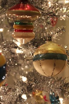 Vintage Christmas Ornaments from each of the guests to remember them by