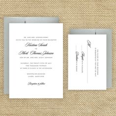 Simple Wedding Invitations Traditional Wedding Invitations Sample. $2.50, via Etsy.