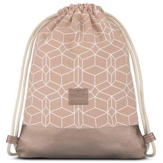 817aea6479043 Pink Rosegold pattern gymsack style  Durable cotton canvas and vegan  leather