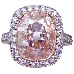 Shop diamond, sapphire and vintage engagement rings and other antique rings from the world's best jewelry dealers. Pink Diamond Ring, Diamond Jewelry, Jewelry Rings, Fine Jewelry, Pink Diamonds, Pink Diamond Wedding Rings, Coloured Diamonds, Pandora Jewelry, Gold Jewelry