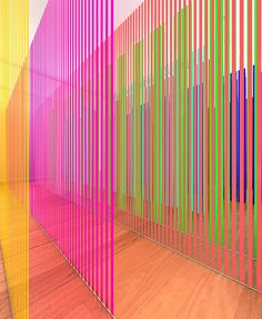 Installation fo Colorful Panels by Nike Savvas